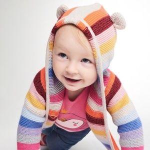 ff66c3ee872fc GAP Shirts   Tops - Baby Gap Crazy Stripe Garter Bear Cardigan Sweater